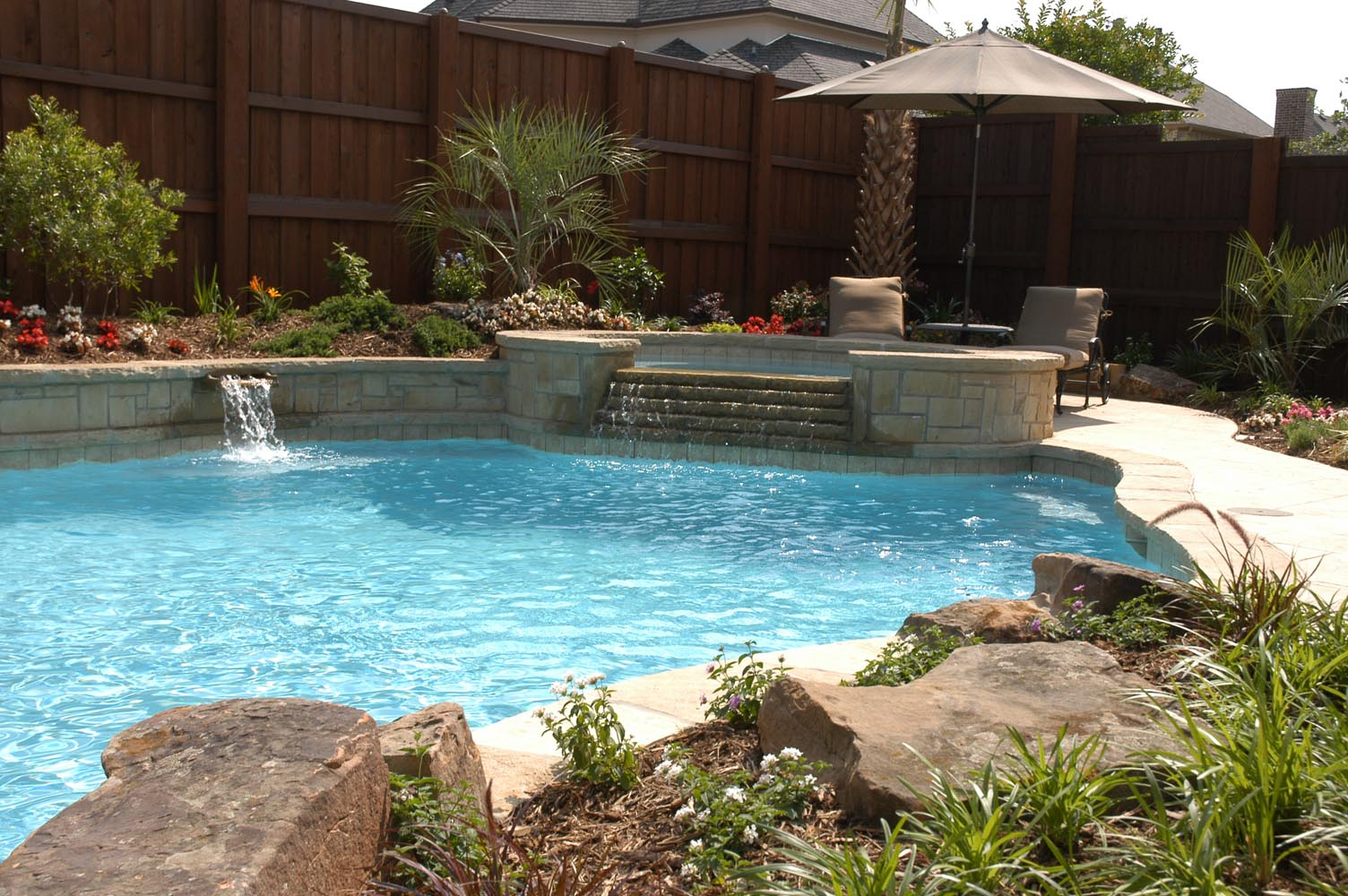 Freeform Pools Photo Gallery, Custom Pools Images, Dallas