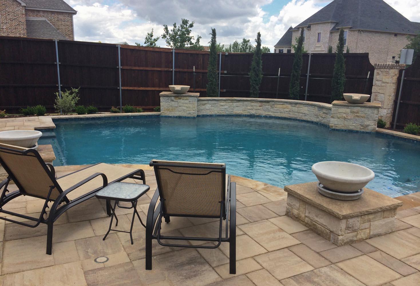 Dallas geometric pool design gallery frisco plano pool for Pool design gallery