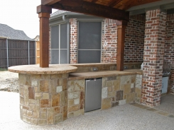 Patio Cover, BBQ Island with Chocolate Lueders  in Prosper