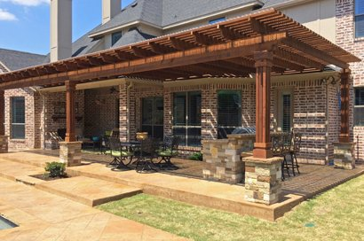 Outdoor fireplace dallas outdoor kitchens in frisco plano for Dallas outdoor kitchens