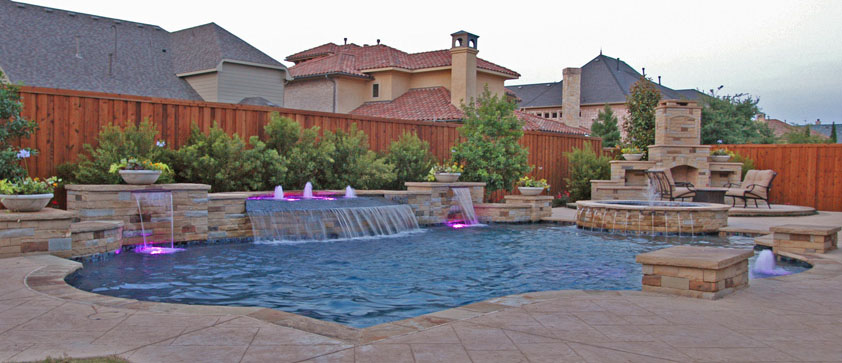 Dallas custom pool design frisco energy efficient pool for Pool design dallas texas