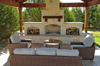Outdoor Fireplace Dallas Kitchens In Frisco Plano