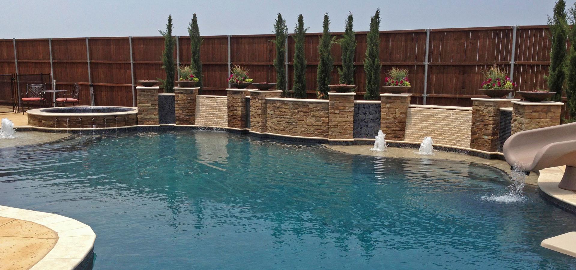 Dallas custom pools frisco pool builder in dallas for Custom pool builder