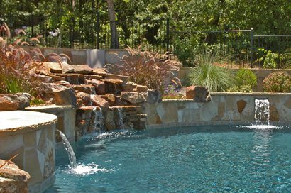 Dallas Pool Fountains Waterfalls Bubblers Custom Water Features