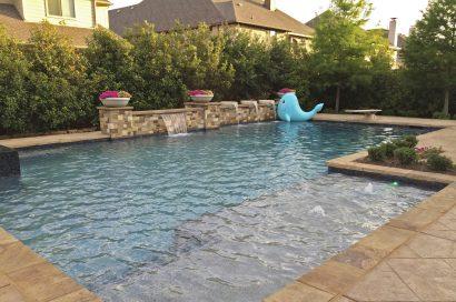 Dallas Pool Fountains Waterfalls Bubblers Custom Water